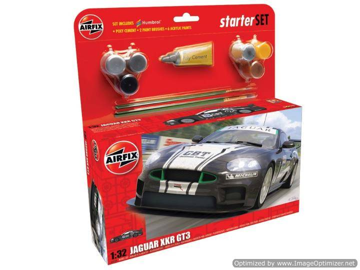 Airfix - Jaguar XKR GT3 APEX Racing Gift Set 1/32 50109