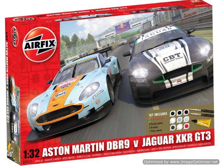 Airfix - Jaguar XKRGT3 APEX Racing and Aston Martin DBR9 Gift Set 1/32 50111