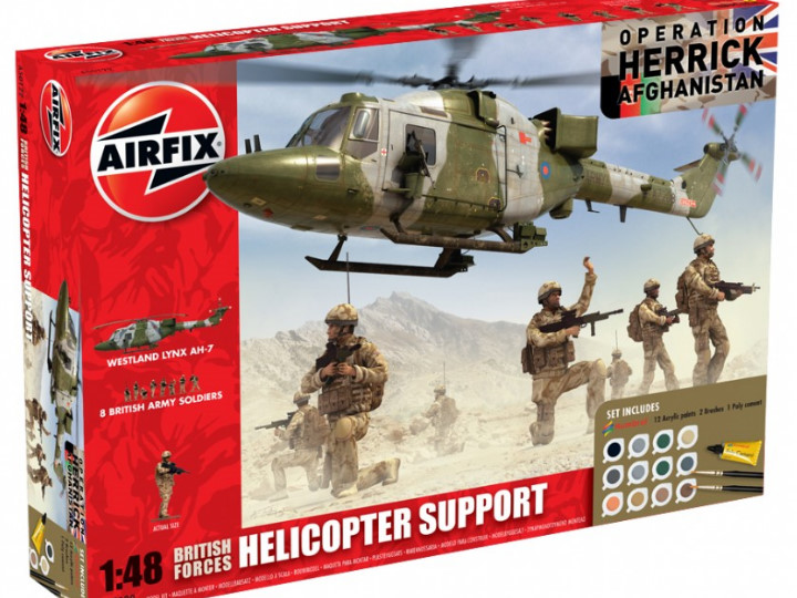 Airfix - Operation Herrick British Forces - Helicopter Support Gift Set 1/48 50122