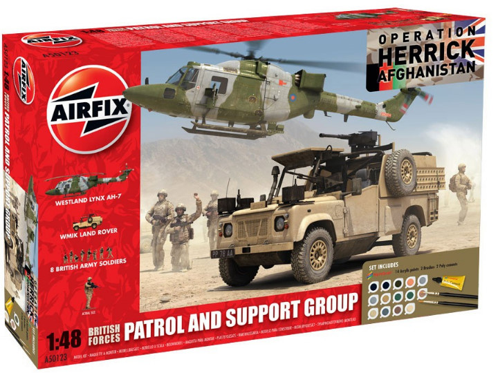 Airfix - Operation Herrick British Forces - Patrol and Support Group Gift Set 1/48 50123