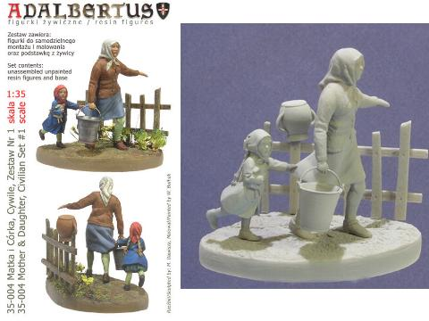 Adalbertus - Mother and Daughter Civilians 1/35 35004