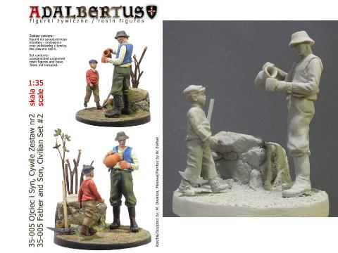 Adalbertus - Father and Son Civilians 1/35 35005
