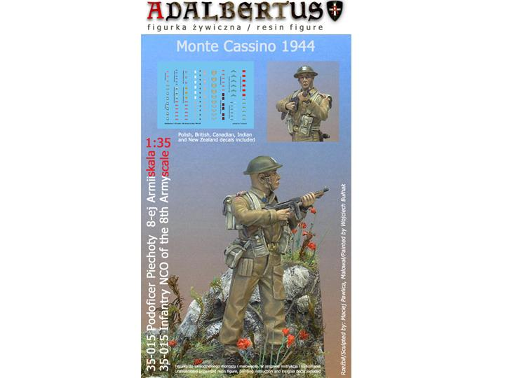 Adalbertus - NCO of the 8th Army 1944 - Monte Cassino 1944 1/35 35015