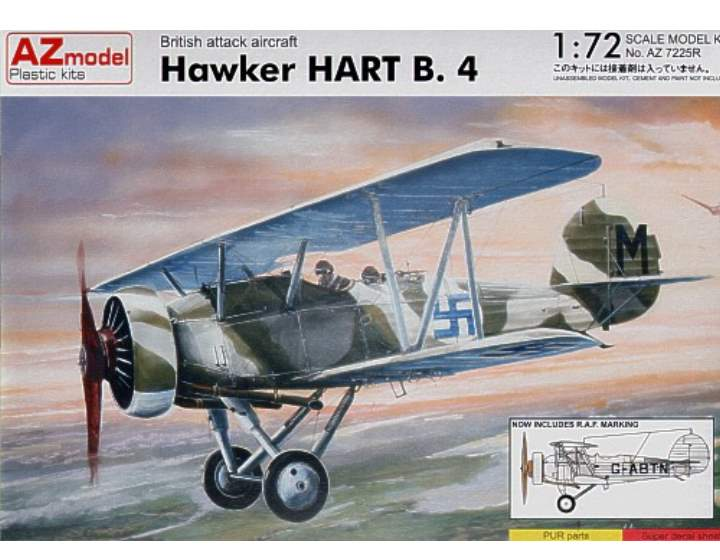 AZ Model - Hawker Hart B.4 1/72 7225