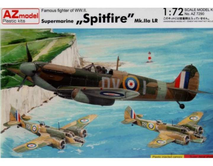 AZ Model Supermarine Spitfire Mk.Iia LR Scale 1/72 7290