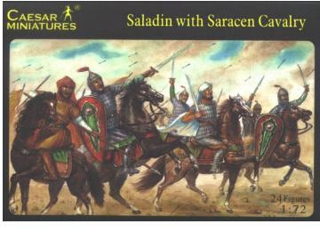Caesar Miniatures - Saladin with Saracen Cavalry 1/72 018