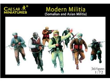 Caesar Miniatures - Modern Militia (Somalian and Asian Militia) 1/72 063