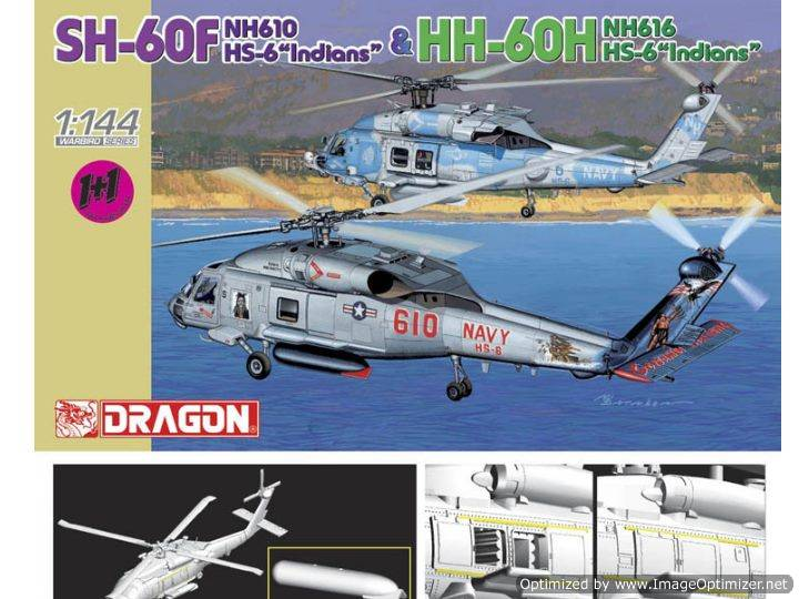 Dragon - SH-60F and HH-60H (2 Kits) 1/144 4619