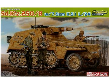 Dragon - Sd.Kfz.250/8 with 7.5cm K.5 I L/24 1/35 6425