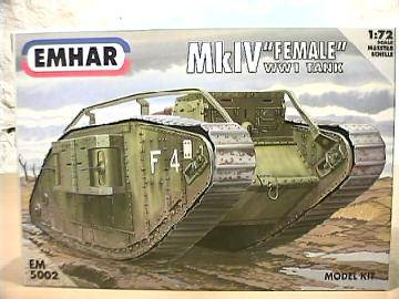 "Emhar - WWI Mk IV ""Female Battle Tank"" 1/72 5002"