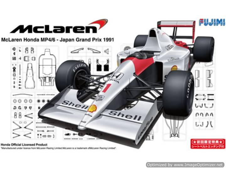 Fujimi - Mclaren Honda MP4/6 1991 Japan GP - Senna / Berger Scale: 1/20