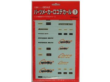 Fujimi - Parts Manufacturer Logo Decal Set 1 1/24 11072