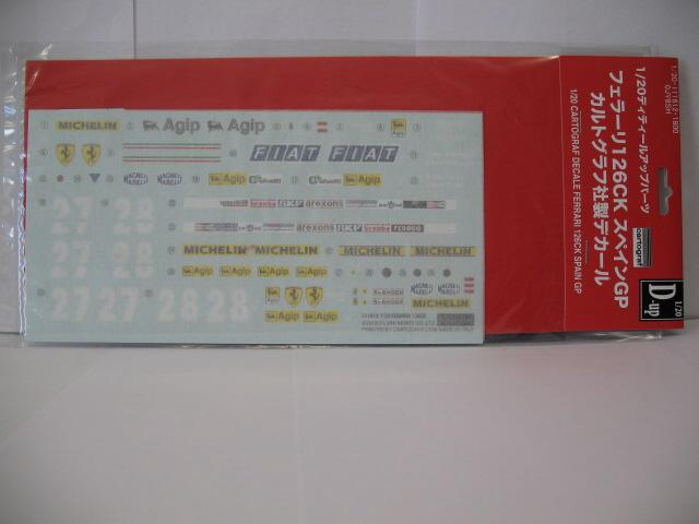 Fujimi - Ferrari 126CK Cartograf Decal 1/20 111612