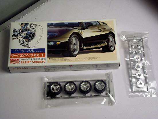 "Fujimi - 17inch Work Equip Voggerd ""Silver"" Wheel and Tyre Set 1/24 19159"