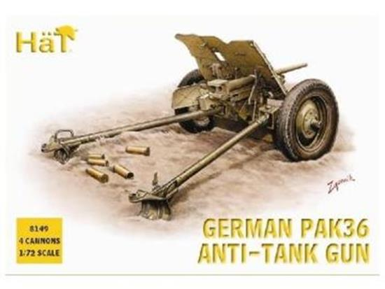 Hat WWII German Pak36 37mm AT gun Scale 1/72 8149