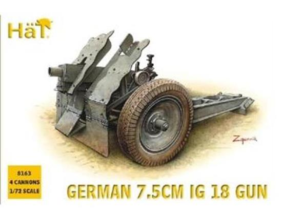 Hat - German 75mm IG 18 Gun 1/72 8163
