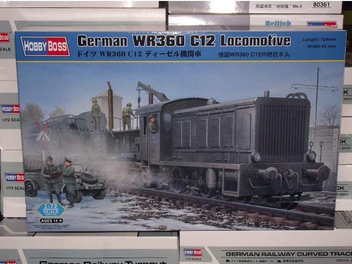 Hobbyboss - German WR360 C12 Locomotive 1/72 82913