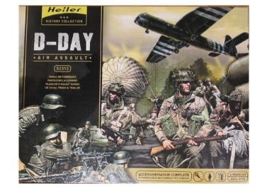 Heller - D-Day Assault Gift Set- Horsa Glider, Jeep, 2 Sets Figures 1/72 52313G