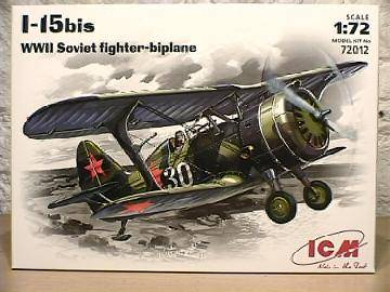 ICM - I-15 Bis WWII Soviet Fighter 1/72 72012