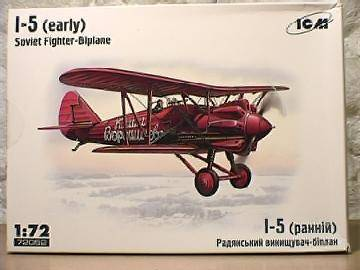 ICM - I-5 Early Soviet Fighter Biplane 1/72 72052