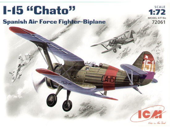 ICM - I-15 Chato Spanish fighter 1/72 72061