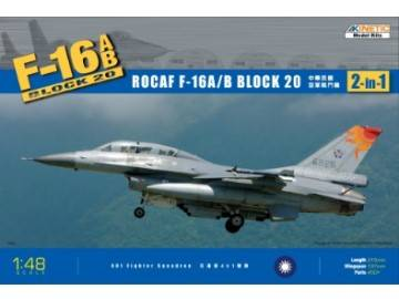 Kinetic - F-16A/B ROCAF BLK 20. 2in1 1/48 48011