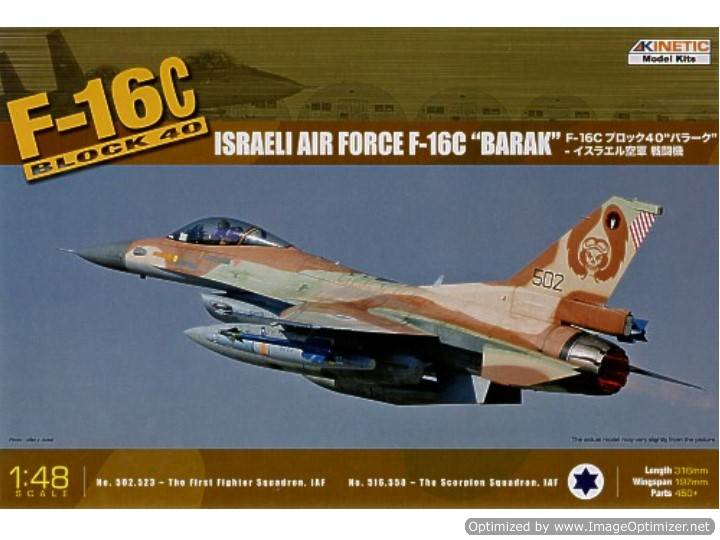 "Kinetic - F-16C Block 40 Israeli Air Force ""Barak"" 1/48 48012"