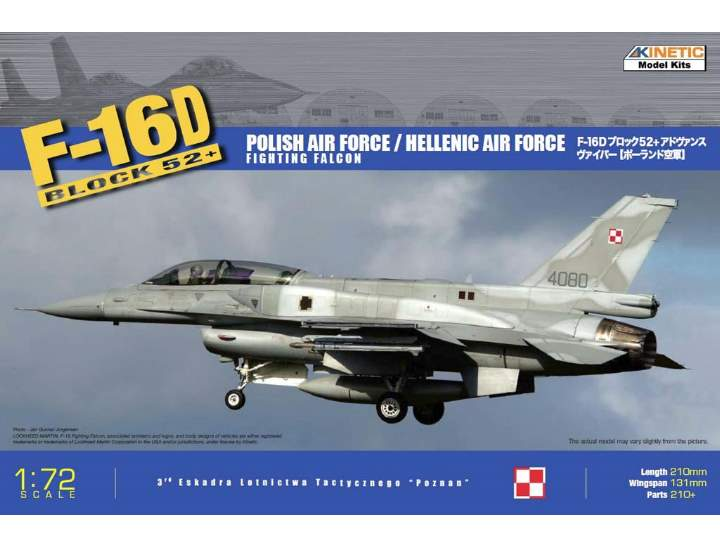 Kinetic - F-16D Block 52+ Polish Air Force/Hellenic Air Force Fighting Falcon 1/72 72002