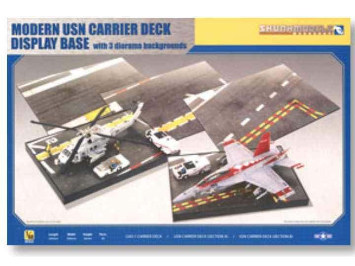 Kinetic - Modern USN Carrier Deck Display Base with 3 Diorama Backgrounds 1/48 SW48016