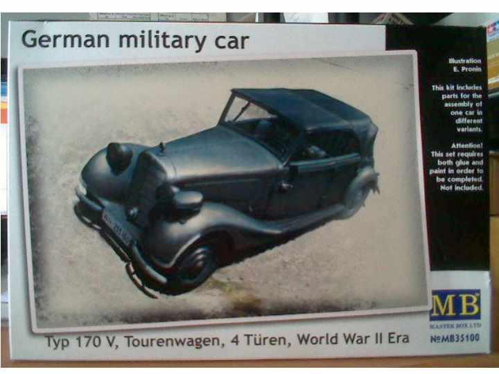 Master Box - German Military Car, Typ 170 V Tourenwagen 4 Turen 1937-1940 1/35 35100