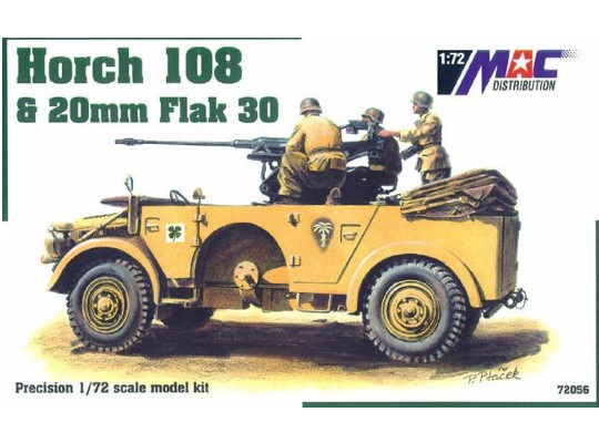 Mac Distribution Horch 108 & 20mm Flak 30 1/72 72056