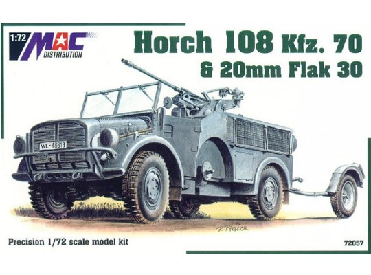 Mac Distribution Horch 108 Kfz. 70 & 20mm Flak 30 1/72 72057