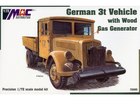Mac Distribution Opel Blitz 3t with Gas Generator 1/72 72065