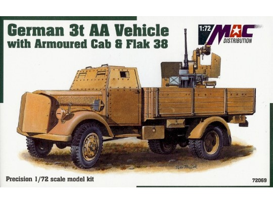 Mac Distribution Opel Blitz 3t AA Vehicle with  Armoured Cab and Flak 38 1/72 72069