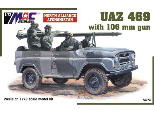 Mac Distribution UAZ 469 with 106 mm gun 1/72 72072
