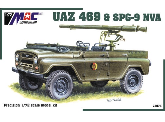 Mac Distribution UAZ 469 with SPG-9 NVA 1/72 72075