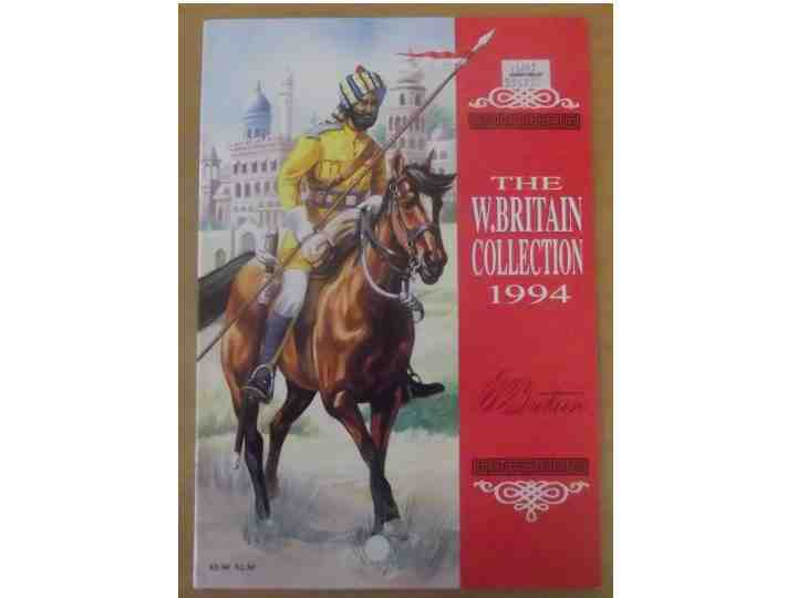 Britains - 1994 Figure Catalogue Scale na Date: 1994