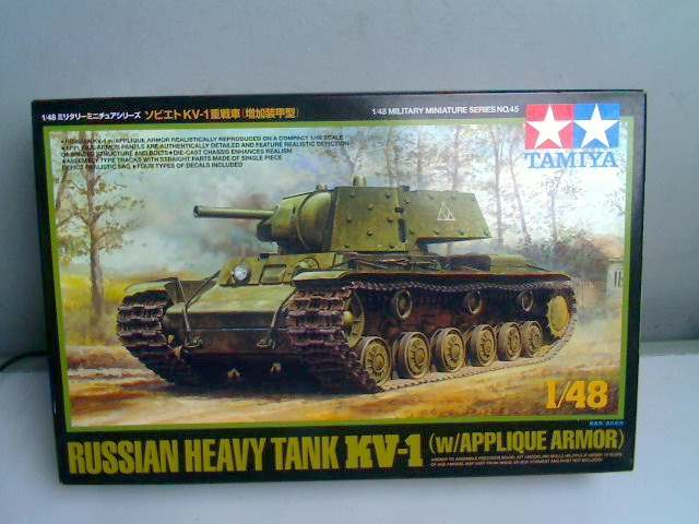 Tamiya 1/48 Russian Heavy Tank KV-1 w/ Applique Armour Date: 00's