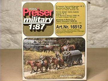Preiser - German Horse Drawn Wagon HO 16512