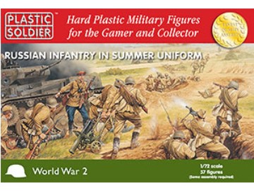 Plastic Soldier Company - Russian Infantry in Summer Uniform 1/72 WW2020001