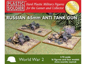 Plastic Soldier Company - Russian 45mm anti tank gun 1/72 WW2G20001