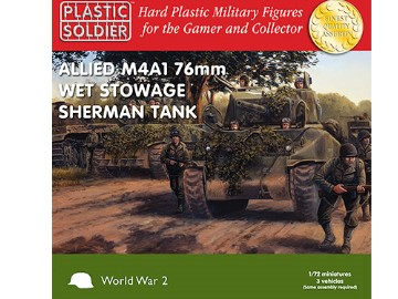 Plastic Soldier Company - Easy Assembly Sherman M4A1 76mm Wet Tank 1/72 WW2V20005