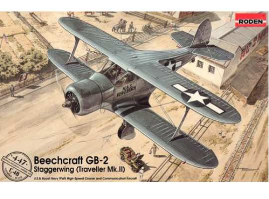 Roden Beechcraft GB-2 Traveller Mk.II Scale 1/48 447