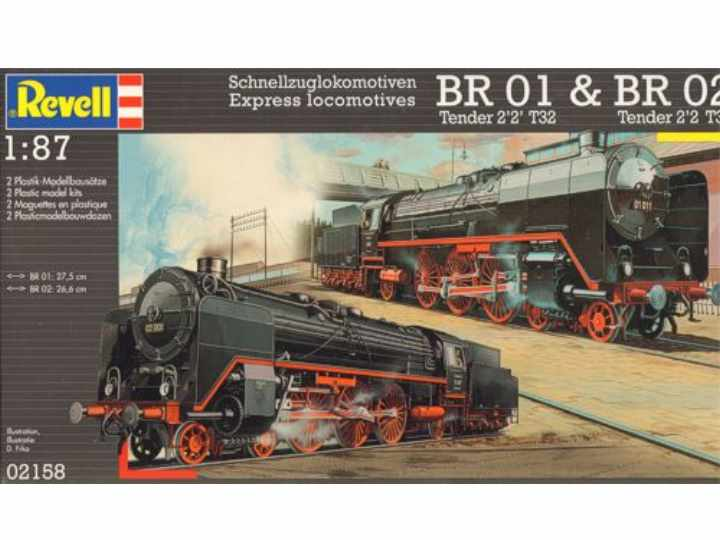 Revell Fast Train Locomotives BR01 & BR02 Scale 1/87 2158