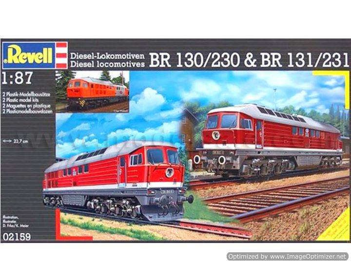 Revell Diesel locomotives BR130/230 & BR 131/231 Scale 1/87 2159