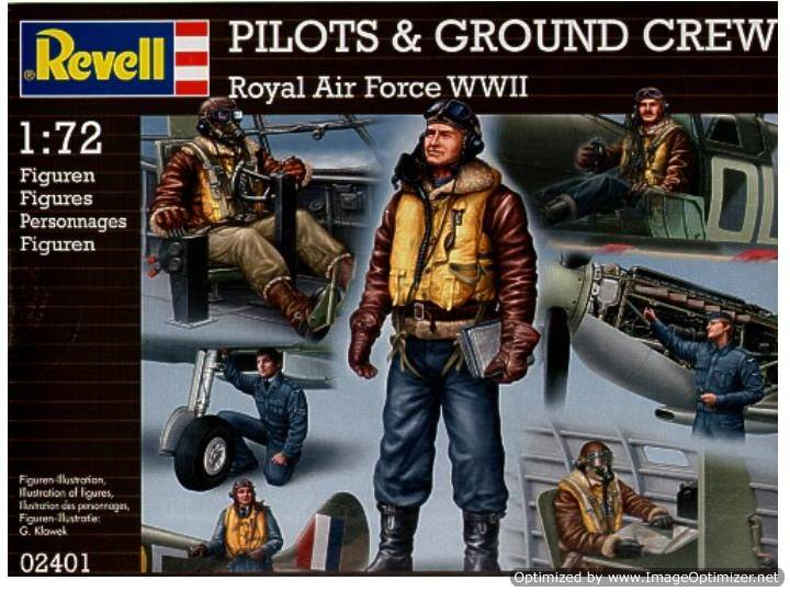 Revell RAF Pilots and Ground Crew Scale 1/72 2401