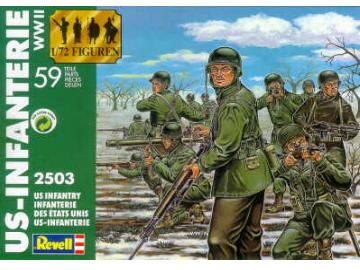 Revell US Infantry Ardens WW II Scale 1/72 2503