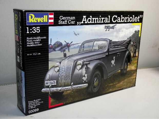 Revell German Staff Car - Admiral Cabriolet 3099