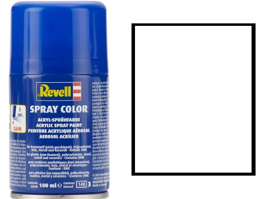 Revell 004 White Gloss Acrylic Spray Scale 100ml 34104
