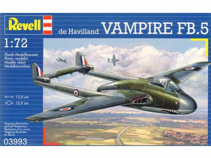 Revell de Havilland VAMPIRE FB.5 3993
